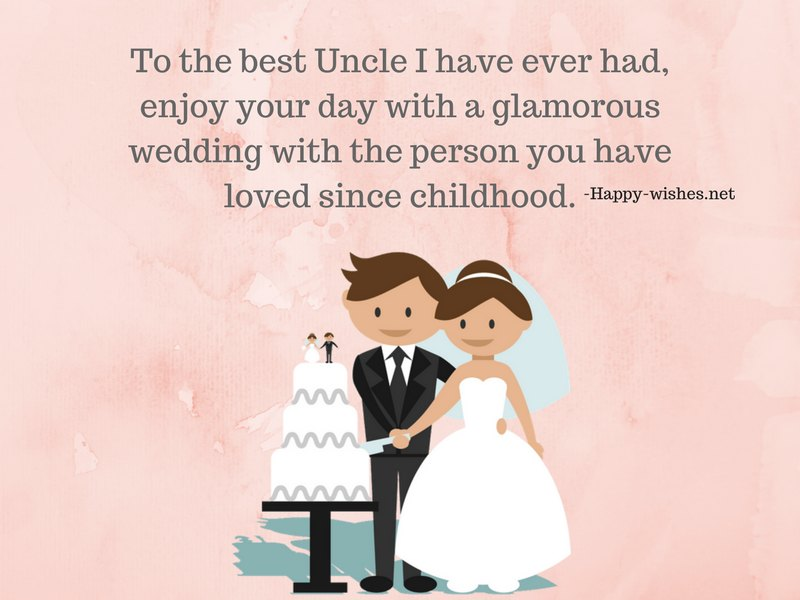 Happy Wedding to my uncle