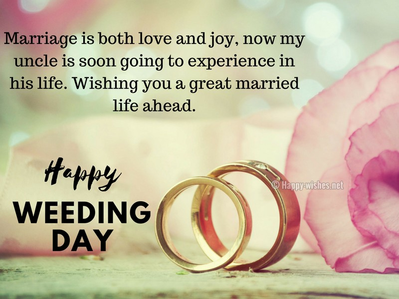 Marriage is both love and joy, now my uncle is soon going to experience in his life-compressed