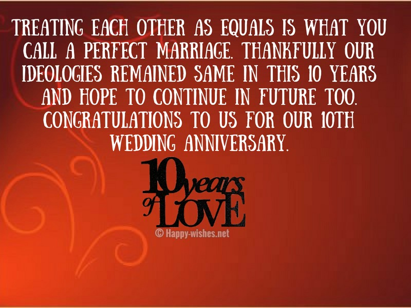 Treating each other as equals is what you call a perfect marriage-compressed