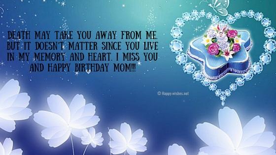 Happy Birthday Mom - I MISS You