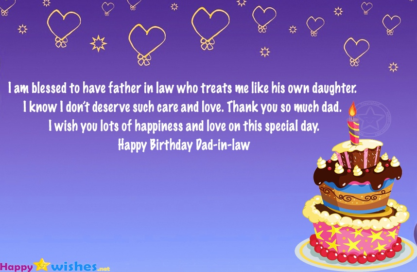 Happy Birthday Wishes For Father In Law From Daughter Quotes