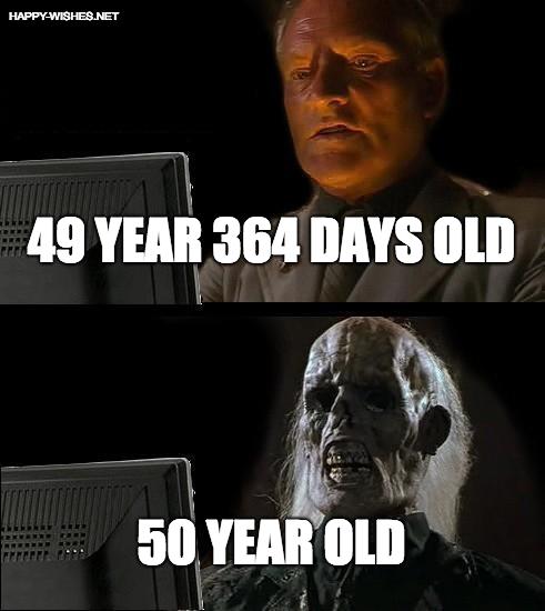 50th Birthday funny memes