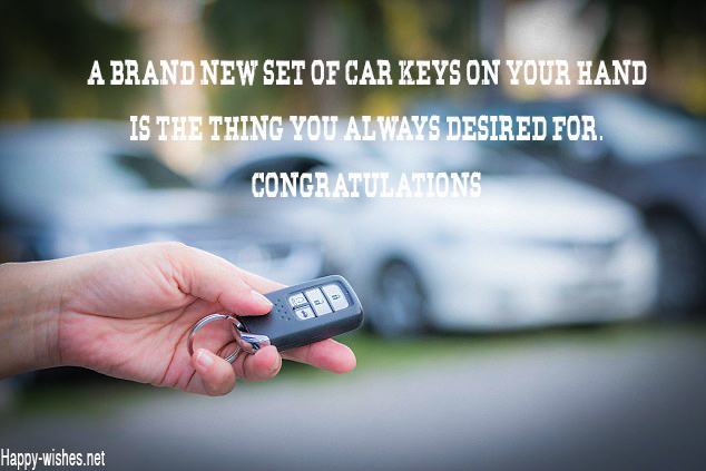 Congratulations for your new car