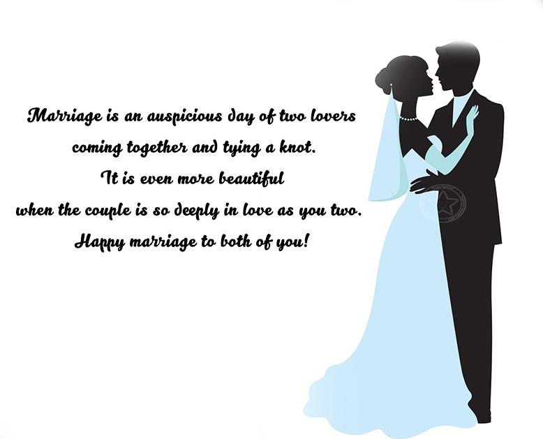 Congratulations to bride and groom