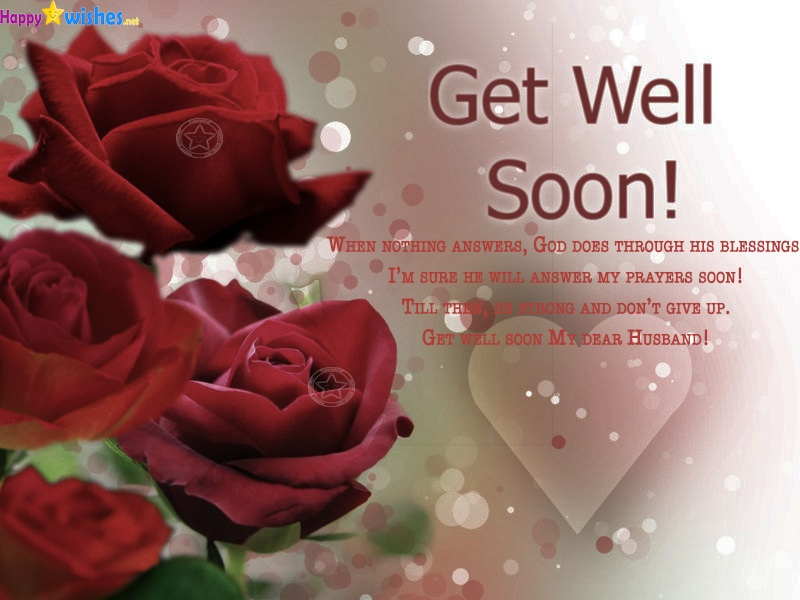 Get well soon my dear husband