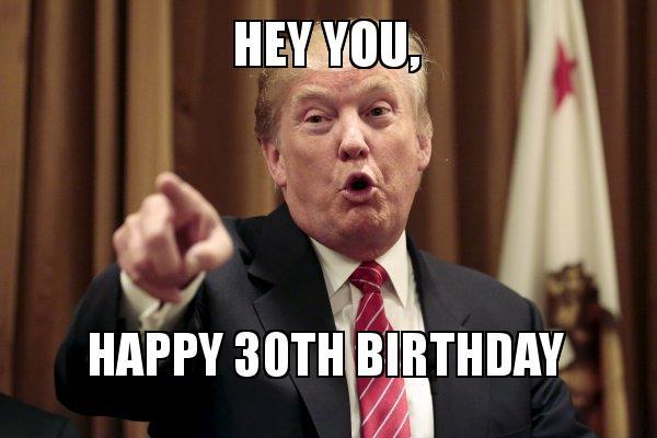 Trumps say happy 30th birthday