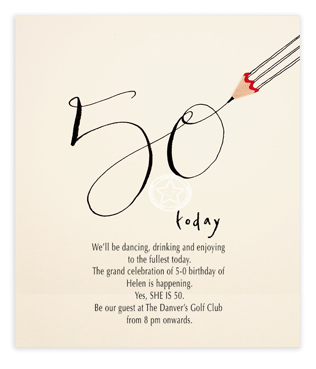 50th birthday invitation sample