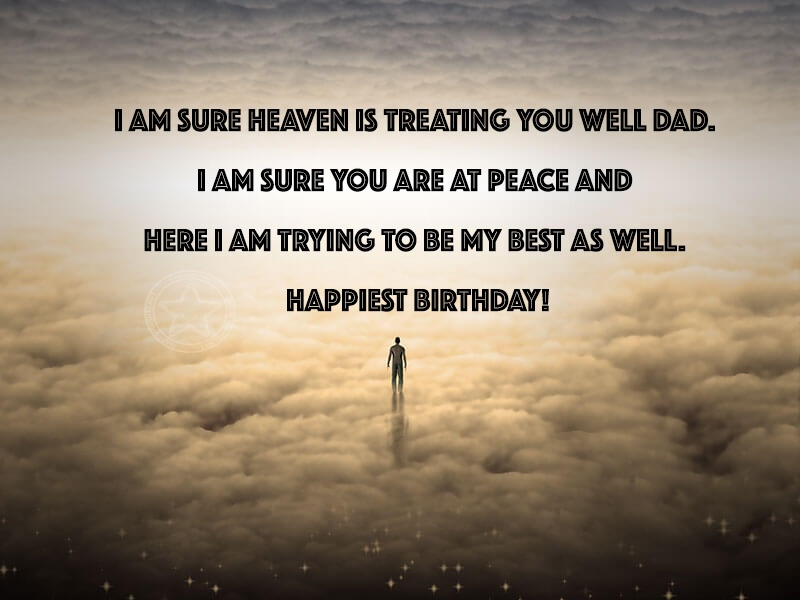 Happy Birthday Daddy in Heaven Quotes & messages
