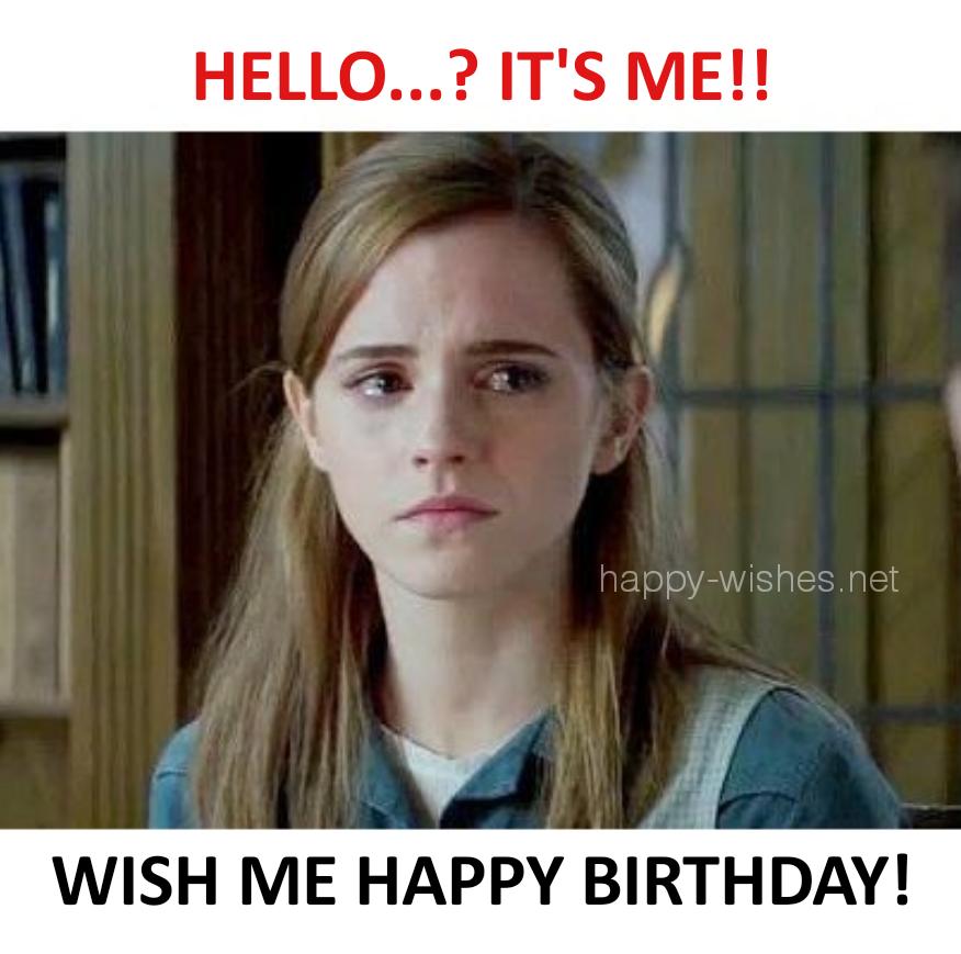 Wish me happy birthday emma watson meme