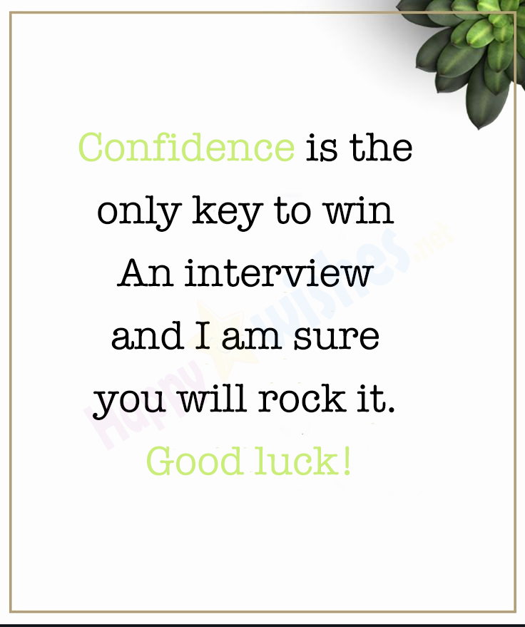 Good Luck Quote for Job Interview