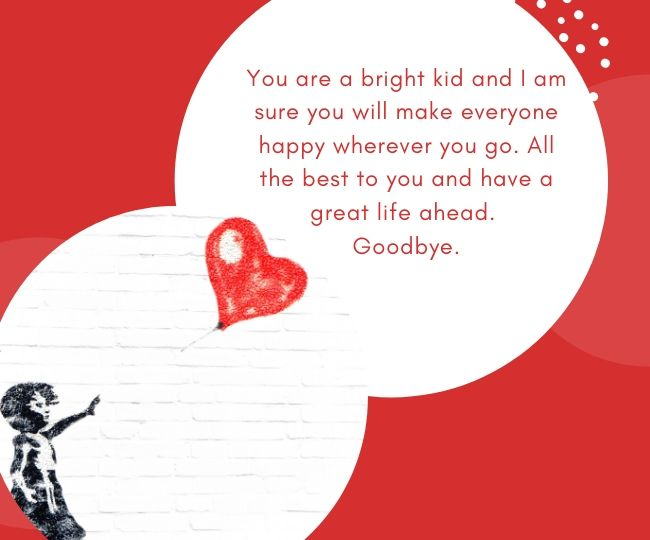 Farewell messages for kids