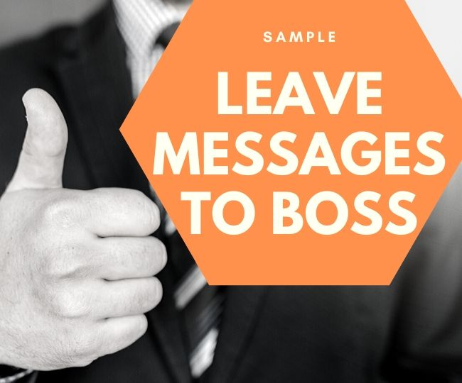 Sample leave message to Boss
