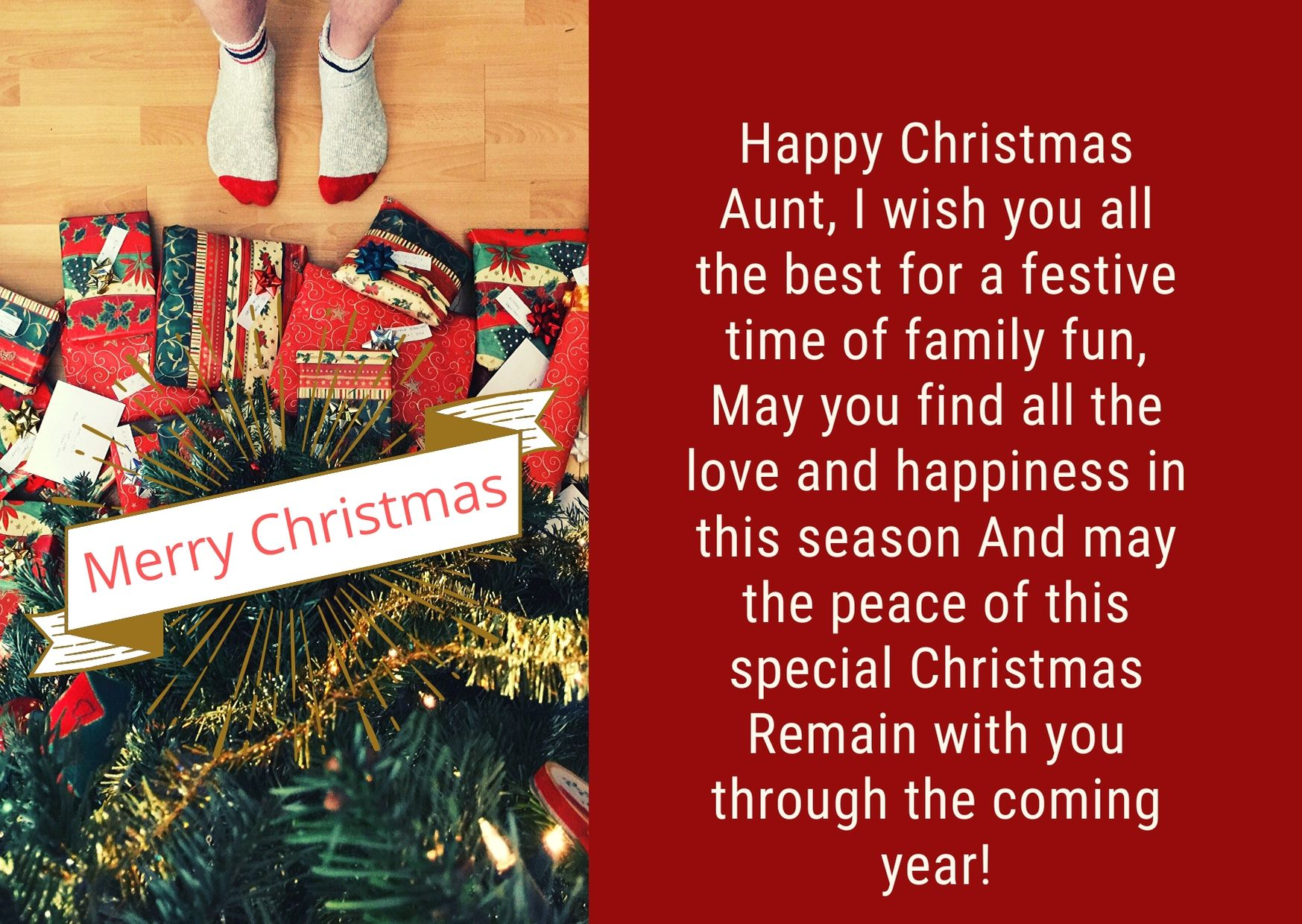 wishing you a Merry Christmas my Aunt